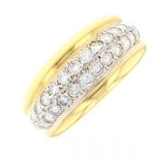Bague diamants 0.96 carat en or bicolore
