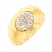 Bague diamants 0.19 carat 2 ors