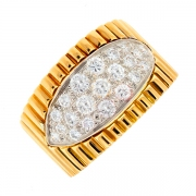 Bague diamants 0.80 carat 2 ors