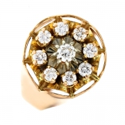 Bague diamants 0.58 carat 2 ors