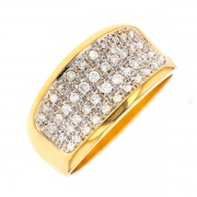 Bague diamants 0.40 carat 2 ors