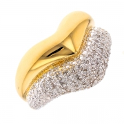 Bague diamants 0.22 carat 2 ors
