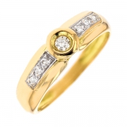 Bague diamants 0.16 carat 2 ors