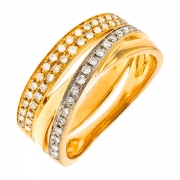 Bague diamants 0.28 carat 2 ors