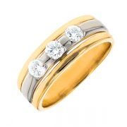 Bague diamants 0.35 carat 2 ors