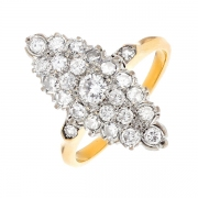 Bague marquise diamants 0.70 carat 2 ors