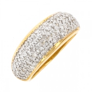 Bague diamants 1.10 carat 2 ors
