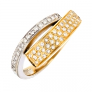 Bague diamants 2 ors 4.89 grs