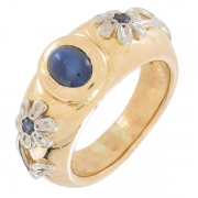 Bague saphirs en or bicolore - Occasion