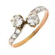 Bague diamants 0.60 carat 2 ors