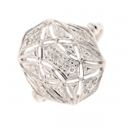 Bague diamants 0.05 carat en or blanc
