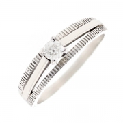 Solitaire diamant 0.10 carat en or blanc