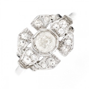 Bague diamants 0.67 carat en or blanc