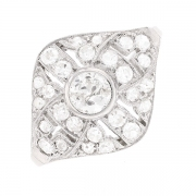 Bague vintage diamants 0.82 carat en or blanc et platine