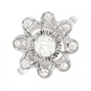 Bague fleur diamants 0.46 carat en or blanc