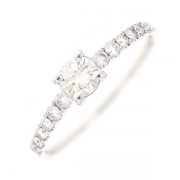 Solitaire diamants 0.51 carat en or blanc