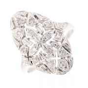 Bague diamants 0.07 carat en or blanc