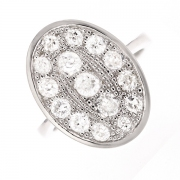 Bague diamants 1.55 carat en or blanc