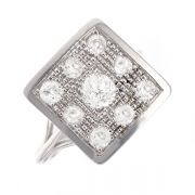 Bague diamants 1.27 carat en or blanc