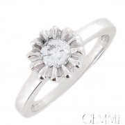 Solitaire Diamant 0.40  carat Or Blanc