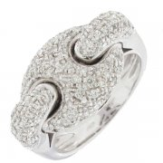 Bague diamants 0,77 carat en or blanc - Neuve