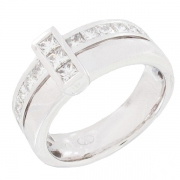 Bague diamants 0,98 carat en or blanc