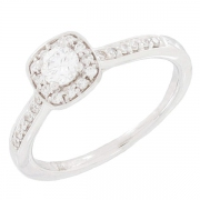 Bague diamants 0,41 carat en or blanc