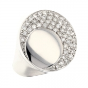 Bague pavage diamants 0.71 carat en or blanc