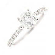 Solitaire diamants 0.78 carat en or blanc