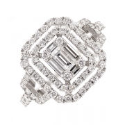 Bague diamants 0.93 carat en or blanc