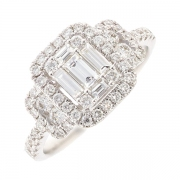 Bague diamants 0.95 carat en or blanc