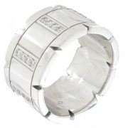 Bague bandeau diamants 0,30 carat en or blanc - Occasion