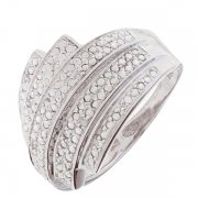 Bague lignes de diamants en or blanc
