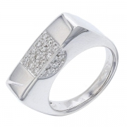 Bague contemporaine diamants 0,26 carat en or blanc