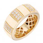 Bague diamants 0,12 carat en or jaune