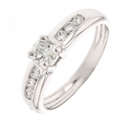 Bague diamants 0,43 carat en or blanc