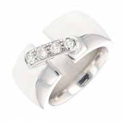Bague lien diamants 0.40 carat en or blanc