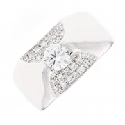 Bague diamants 0.80 carat en or blanc