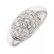 Bague pavage diamants 0.75 carat en or blanc