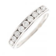 Demi-alliance diamants 0.29 carat en or blanc