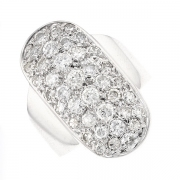 Bague pavage de diamants 1.96 carat en or blanc
