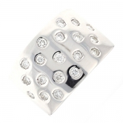 Bague diamants 0.57 carat en or blanc