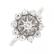 Bague ronde diamants 0.42 carat en or blanc