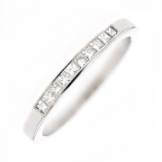 Bague diamants princesses 0.40 carat en or blanc