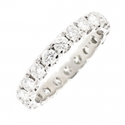 Alliance tour complet diamants 1.60 carat en or blanc