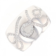 Bague diamants 0.55 carat en or blanc