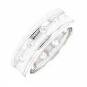 Bague tour complet diamants 0.60 carat en or blanc