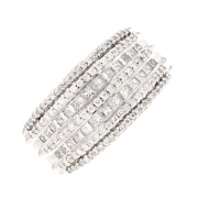 Bague pavage diamants 1.32 carat en or blanc