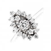 Bague marquise diamants 0.49 carat en or blanc