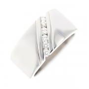 Bague diamants 0.18 carat en or blanc